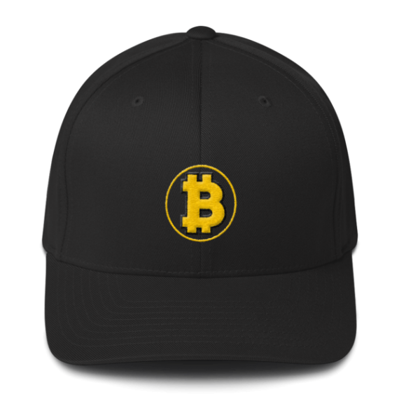 Bitcoin: The Original – 3D Puff – Flexfit Structured Cap - Black - Front