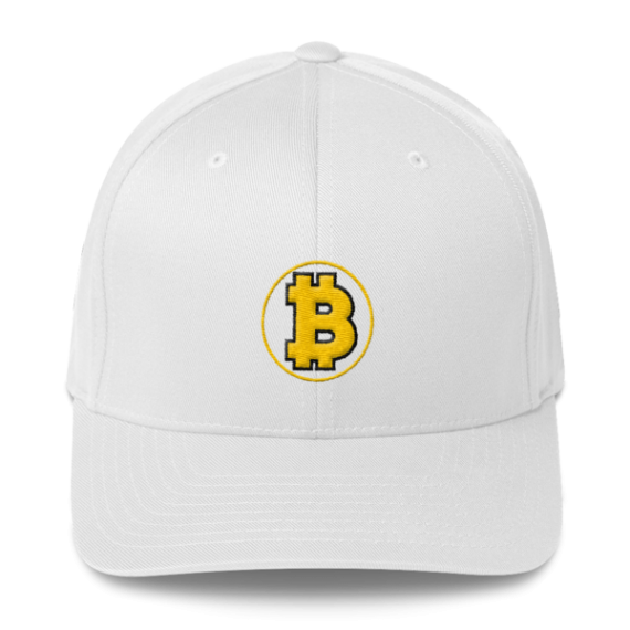 Bitcoin: The Original – 3D Puff – Flexfit Structured Cap - White - Front