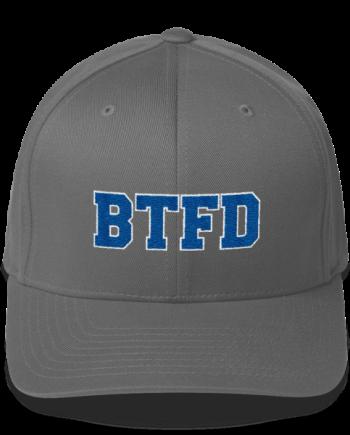 BTFD - Flat - Flexfit Structured Cap - Grey - Front