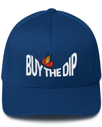 Buy The Dip – Flexfit Structured Cap – Dark - Blue - Front