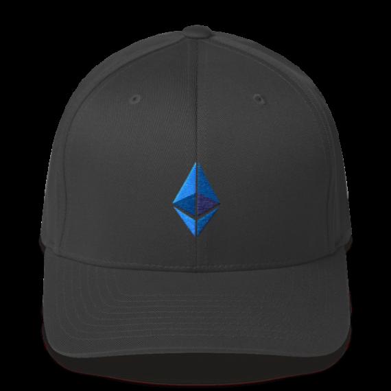 Ethereum logo – Flexfit Structured Cap - Dark Grey - Front