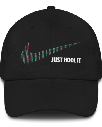 Just HODL it - Litecoin – Low Profile Cap - Black - Front