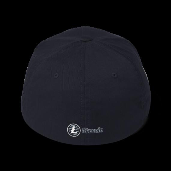 Just HODL it – Litecoin - Flexfit Structured Cap – Dark - Navy - Back