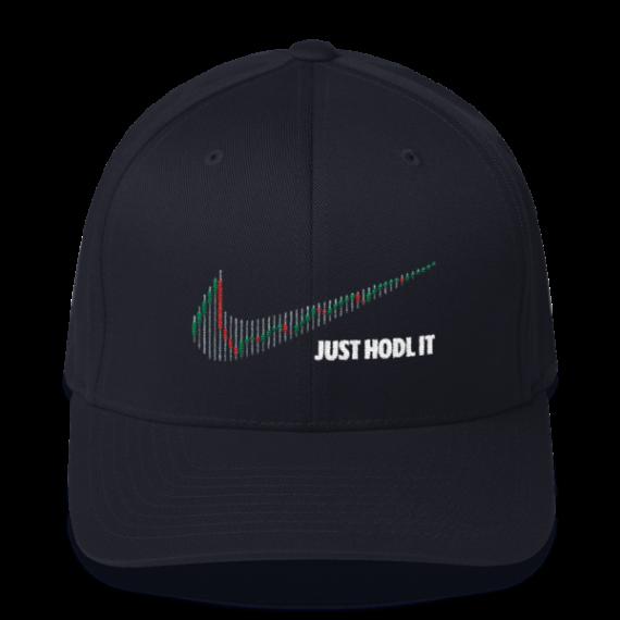 Just HODL it – Litecoin - Flexfit Structured Cap – Dark - Navy - Front