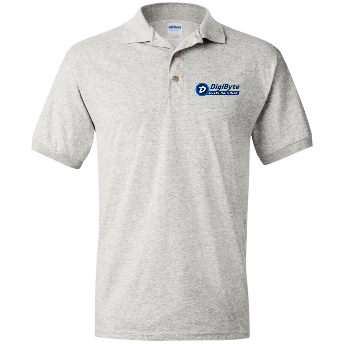 Digibyte Accept The Future Embroidered Polo Shirt By Gildan